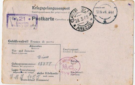 Dino in Germania: 8 settembre 1943 - 7 luglio 1945